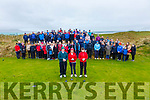 The 2020 Captains of Waterville Golf Club held their Drive In on Sunday, pictured here front l-r; Captain Dan Brosnan, Lady Captain Aileen Maher & Junior Captain Jack O'Shea.