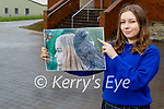 Justyna Przyborska, Presentation Milltown student who came 2nd in a national Mental Health Ireland Art and Photography Competition with her painting called Metamorphic - If You Want to Fly Like A Butterfly Don't Flap Like A Crow.