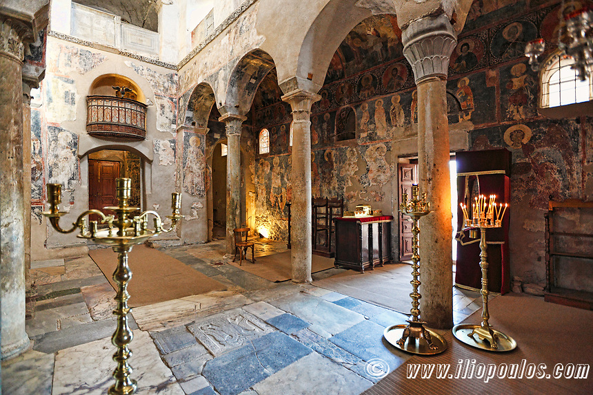 The church of Saint Dimitrios (Metropolis) in Mystras, Greece