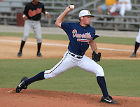 14 July 2006: Pitcher Tommy Hanson (48) of the Danville Braves, the Atlanta Braves' affiliate of the rookie Appalachian League, in a game at Dan Daniel Park in Danville, Va. (Tom Priddy/Four Seam Images)
