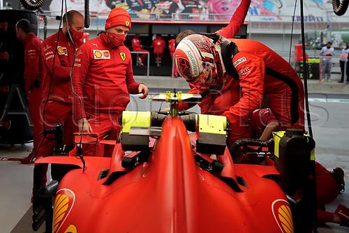 14th November 2020; Istanbul Park, Istanbul, Turkey; FIA Formula One World Championship 2020, Grand Prix of Turkey, qualifying; 16 Charles Leclerc MCO, Scuderia Ferrari Mission Winnow