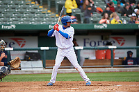 South Bend Cubs Christopher Morel (29) at bat during a Midwest League game against the Cedar Rapids Kernels at Four Winds Field on May 8, 2019 in South Bend, Indiana. South Bend defeated Cedar Rapids 2-1. (Zachary Lucy/Four Seam Images)