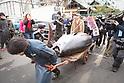 Tsukiji wholesale food market: Yamayuki Group bid the highest priced tuna