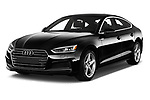 2017 Audi A5 Sportback Premium 5 Door Hatchback angular front stock photos of front three quarter view