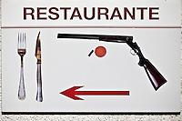 Europe/Espagne/Pays Basque/Guipuscoa/Goierri/Env d' Onati: Enseigne restaurant
