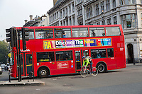 UK, England, London.  Double-decker Bus.