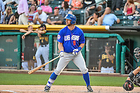Kirk Nieuwenhuis (9) of the Las Vegas 51s at bat against the Salt Lake Bees in Pacific Coast League action at Smith's Ballpark on June 25, 2015 in Salt Lake City, Utah.  Las Vegas defeated Salt Lake 20-8. (Stephen Smith/Four Seam Images)