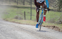 red&blue<br /> <br /> Team AG2R-LaMondiale during the 2017 Strade Bianche recon (the day before the race)