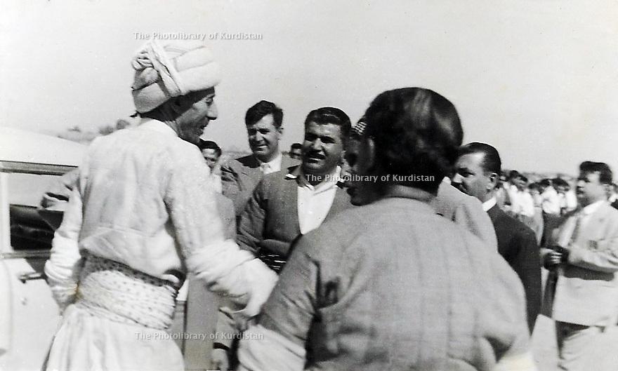 Iraq 1958.Sheikh Ahmed visiting Kirkuk on his way back to Kurdistan