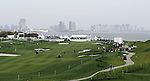 SUZHOU, CHINA - APRIL 17:  General view of the 18th hole during the Round Three of the Volvo China Open on April 17, 2010 in Suzhou, China. Photo by Victor Fraile / The Power of Sport Images