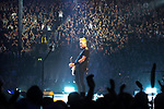 © Joel Goodman - 07973 332324 . 28/10/2017 . Manchester , UK . The audience watch James Hetfield in the foreground . Metallica perform at the Manchester Arena . Photo credit : Joel Goodman