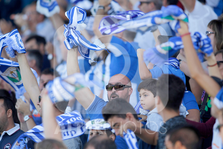CD Leganes' supporters during La Liga match. September 25,2016. (ALTERPHOTOS/Acero)