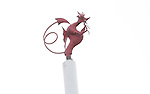 A dragon on top of the posts at Rodney Parade..RaboDirect Pro 12.Newport Gwent Dragons v Leinster..05.05.12.©Steve Pope-Sportingwales