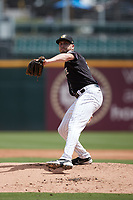 Charlotte Knights starting pitcher Alex McRae (30) in action against the Durham Bulls at Truist Field on August 28, 2021 in Charlotte, North Carolina. (Brian Westerholt/Four Seam Images)