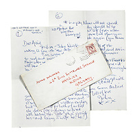 BNPS.co.uk (01202) 558833<br /> Pic: Bonhams/BNPS<br /> <br /> Pictured: Kind-hearted letters penned by the Beatles to the German fiancee of tragic original bassist Stuart Sutcliffe have come to light.<br /> <br /> Astrid Kirchherr grew close to the band after becoming romantically involved with Sutcliffe during their 1960 Hamburg residency.<br /> <br /> Sutcliffe, a talented painter, left the Beatles the following year to enrol at the Hamburg College of Art, but he died of suspected brain haemorrhage in April 1962.<br /> <br /> The Fab Four were shocked by his sudden death and stayed in touch with Astrid, a photographer, in the years that followed.
