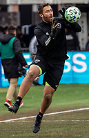 WASHINGTON, DC - FEBRUARY 29: Chris Seitz #1 of DC United makes a save during a game between Colorado Rapids and D.C. United at Audi Field on February 29, 2020 in Washington, DC.