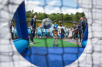 Children enjoy the events during the Wycombe Wanderers 2016/17 Kit launch to the Public at Adams Park, High Wycombe, England on 10 July 2016. Photo by Andy Rowland.