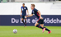 ST. GALLEN, SWITZERLAND - MAY 30: Jackson Yueill #14 of the United States looks for an open man downfield during a game between Switzerland and USMNT at Kybunpark on May 30, 2021 in St. Gallen, Switzerland.