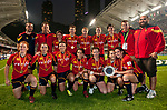Spanish Team pose after winning during the Hong Kong Women's Tournament at the Cathay Pacific / HSBC Hong Kong Sevens 2012 at the Hong Kong Football Club in Hong Kong, China on 23rd March 2012. Photo © Manuel Queimadelos / PSI for HKRFU