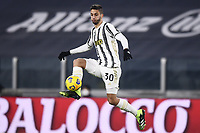 3rd January 2021, Allianz Stadium, Turin Piedmont, Italy; Serie A Football, Juventus versus Udinese;  Rodrigo Bentancur controls the high ball