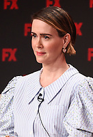 """PASADENA, CA - JANUARY 9: Cast member Sarah Paulson attends the panel for """"Mrs. America"""" during the FX Networks presentation at the 2020 TCA Winter Press Tour at the Langham Huntington on January 9, 2020 in Pasadena, California. (Photo by Frank Micelotta/FX Networks/PictureGroup)"""