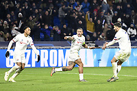 JOIE - 11 MEMPHIS DEPAY (OL)<br /> Lione 10-12-2019 <br /> Lyon vs Leipzig <br /> Champions League 2019/2020<br /> Photo Anthony Bibard / Panoramic / Insidefoto <br /> Italy Only