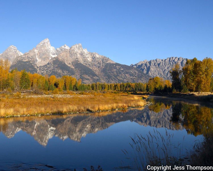 Grand Tetons with reflection