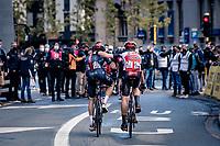 Luke Rowe (GBR/Ineos Grenadiers) & Florian Vermeersch (BEL/Lotto-Soudal) rolling in together <br /> <br /> 82nd Gent-Wevelgem in Flanders Fields 2020 (1.UWT)<br /> 1 day race from Ieper to Wevelgem (232km)<br /> <br /> ©kramon