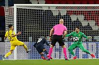 11th March 2020, Parc des Princes, Paris, France; Champions League - Round of 16 Second Leg - Paris St Germain versus Borussia Dortmund; Paris St Germains Neymar scores their first goal for 1-0