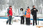 MARTELL-VAL MARTELLO, ITALY - FEBRUARY 02: Before the flower ceremony after the Women 7.5 km Sprint at the IBU Cup Biathlon 6 on February 02, 2013 in Martell-Val Martello, Italy. (Photo by Dirk Markgraf)