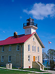 Ozaukee County, WI,<br /> Port Washington lighthouse (1849) on Lake Michigan in the town of Port Washington
