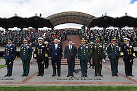 BOGOTÁ - COLOMBIA, 24-06-2015 Luis Carlos Villegas, nuevo ministro de defensa de Colombia hace su primer reconoicimiento de tropas junto con Juan Manuel Santos, Presidente de Colombia, hoy 24 de junio de 2015 en la Escuela Militar José María Córdoba de la ciudad de Bogotá../ Luis Carlos Villegas new Defense minister makes his first acknowledgment of troops with Juan Manuel Santos, President of Colombia, today june 24 2015 at Jose Maria Cordoba military academy in Bogota city.. Photo: VizzorImage /  Javier Casella / Mindefensa / HANDOUT PICTURE; MANDATORY EDITORIAL USE ONLY/ NO MARKETING, NO SALES