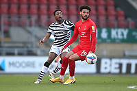 Ebou Adams of Forest Green Rovers and Lee Angol of Leyton Orient during Leyton Orient vs Forest Green Rovers, Sky Bet EFL League 2 Football at The Breyer Group Stadium on 23rd January 2021
