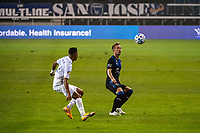 SAN JOSE, CA - SEPTEMBER 13: Jackson Yueill #14 of the San Jose Earthquakes during a game between Los Angeles Galaxy and San Jose Earthquakes at Earthquakes Stadium on September 13, 2020 in San Jose, California.