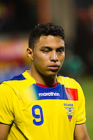 Jefferson Montero (9) of Ecuador. Ecuador defeated Chile 3-0 during an international friendly at Citi Field in Flushing, NY, on August 15, 2012.