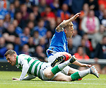 01.09.2019 Rangers v Celtic: Calum McGregor and Scott Arfield