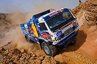 7th January 2021; Riyadh to Buraydah, Saudi Arabia; Dakar Rally, stage 5;  #500 Karginov Andrey (rus), Mokeev Andrey (rus), Leonov Igor (rus), Kamaz, Kamaz - Master, Camion, Truck, action during the 5th stage of the Dakar 2021 between Riyadh and Al Qaisumah, in Saudi Arabia on January 7, 2021