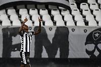 Rio de Janeiro (RJ), 01/08/2020 - Botafogo-Fluminense - Matheus Babi comemora gol. Partida amistosa entre Botafogo e Fluminense, realizada no Estádio Nilton Santos (Engenhão), na zona norte do Rio de Janeiro,  neste sábado (01).