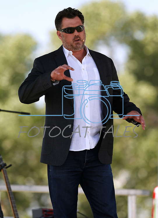 Former Navy SEAL Marcus Luttrell speaks at he 4th annual Basque Fry in Gardnerville, Nev., on Saturday, Aug. 25, 2018. Hosted by the Morning in Nevada PAC, the event is a fundraiser for conservative candidates and issues and includes traditional Basque dishes like deep-fried lamb testicles.(Cathleen Allison/Las Vegas Review Journal)