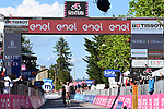 Andrea Vendrame (ITA) AG2R Citroen Team from the breakaway wins Stage 12 the Tappa Bartali of the 2021 Giro d'Italia, running 212km from Siena to Bagno di Romagna, Italy. 20th May 2021.  <br /> Picture: LaPresse/Gian Mattia D'Alberto | Cyclefile<br /> <br /> All photos usage must carry mandatory copyright credit (© Cyclefile | LaPresse/Gian Mattia D'Alberto)