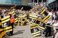 Photo: Richard Lane/Richard Lane Photography. Wasps v London Irish. Aviva Premiership. 07/05/2016. Wasps supporters wait to treat the team.