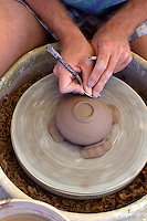 Potter creates a new pot.<br />