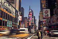 Uptown view of Times Square<br />
