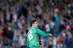 Atletico de Madrid's Thibaut Courtois celebrates goal during Champions League 2013/2014 match.September 18,2013. (ALTERPHOTOS/Acero)