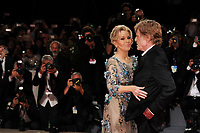 U.S. actors Jane Fonda, left, and Robert Redford pose on the red carpet for the screening of the movie 'Our Souls At Night' at the 74th Venice Film Festival, Venice Lido, September 1, 2017. <br /> UPDATE IMAGES PRESS/Marilla Sicilia<br /> <br /> *** ONLY FRANCE AND GERMANY SALES ***