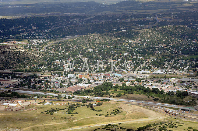 aerial of Castle Rock, Colorado