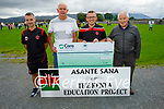 The Kenya Education Project receiving the sum of €1,640 from the Park FC on Saturday, l to r: Mike McCannon, Eddie Sheehy (Kenya Education Project), Ed O'Regan and George Dineen (Chairman of Park FC)