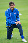 St Johnstone Training…22.07.16<br />Murray Davidson pictured during training this morning at McDiarmid Park ahead of tomorrows Betfred Cup game against Falkirk.<br />Picture by Graeme Hart.<br />Copyright Perthshire Picture Agency<br />Tel: 01738 623350  Mobile: 07990 594431