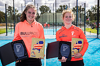 Netherlands, September 6,  2020, Amsterdam, Padel Dam, NK Padel, National  Junior Padel Championships, Prizegiving winners, Maaike Betz (NED) and Quinty Finkenflügel (NED)<br /> Photo: Henk Koster/tennisimages.com