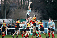 Blackheath Rugby win the line-out during the English National League match between Richmond and Blackheath  at Richmond Athletic Ground, Richmond, United Kingdom on 4 January 2020. Photo by Carlton Myrie.